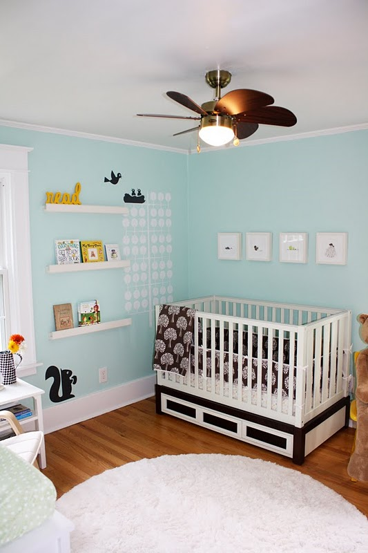 Benjamin Moore Neutral Nursery Wall