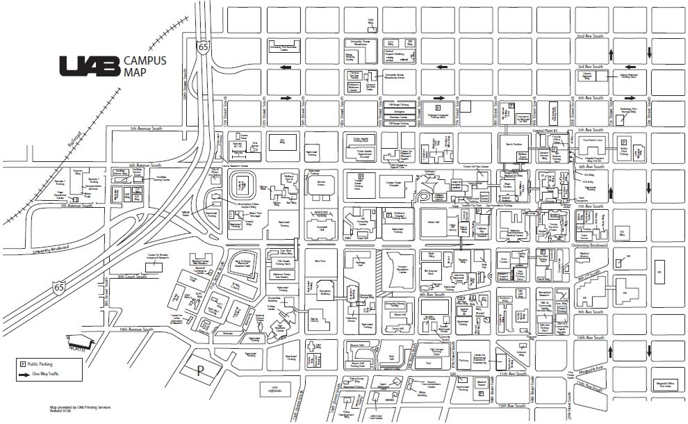 Uab Campus Map Submited Images