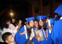 En la graduación