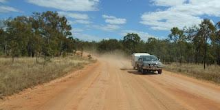 Vejen til Undara National Park, Australien