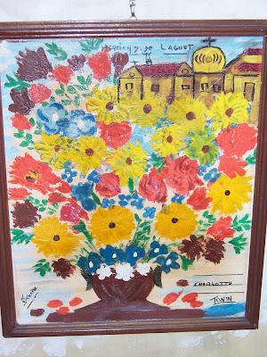 Bouquet de fleurs ex-voto du sanctuaire de Laghet (06)