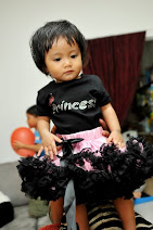 sayyidah with her tutu skirt and mom n bab princess romper