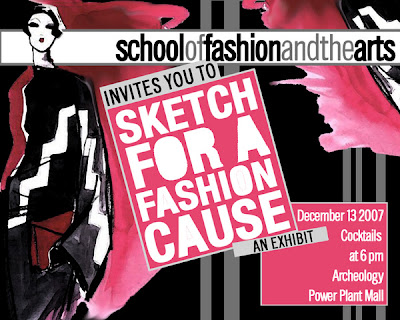 SKETCH FOR A FASHION CAUSE!!! Dec 13, 6pm Archeology at Power Plant school of fashion and the arts SoFA Archeology / Power Plant Mall<br />Makati City, Philippines
