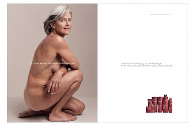dove pro age campaign print ad women aging uniliver photo anna leibovitz