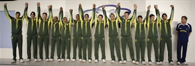 beijing china olympics uniform 2008 brazil volleyball team