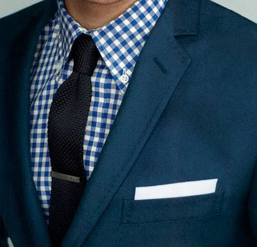 gingham knitted tie