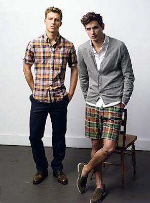madras plaid men fashion