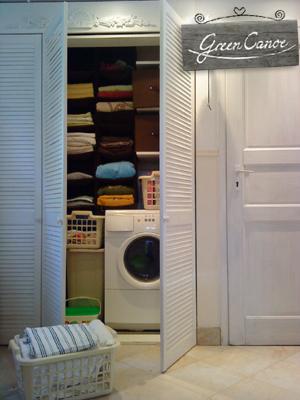 Zabudowa pralki w szafie