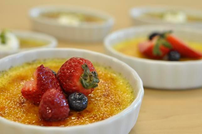 Gourmet Baking Vanilla Bean And Pistachio Creme Brulee