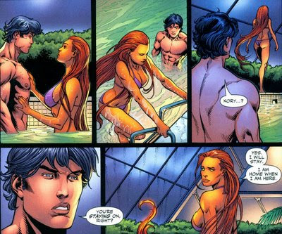 ... Starfire likes sunbathing nude at his house…to the chagrin of his wife ...