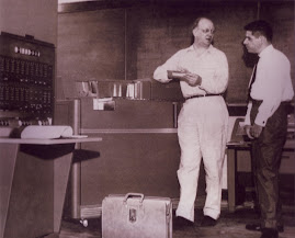 First Computer at UC IBM-650 -- 1958