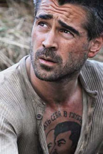 Irish actor Colin Farrell has revealed he designed his own communist ...