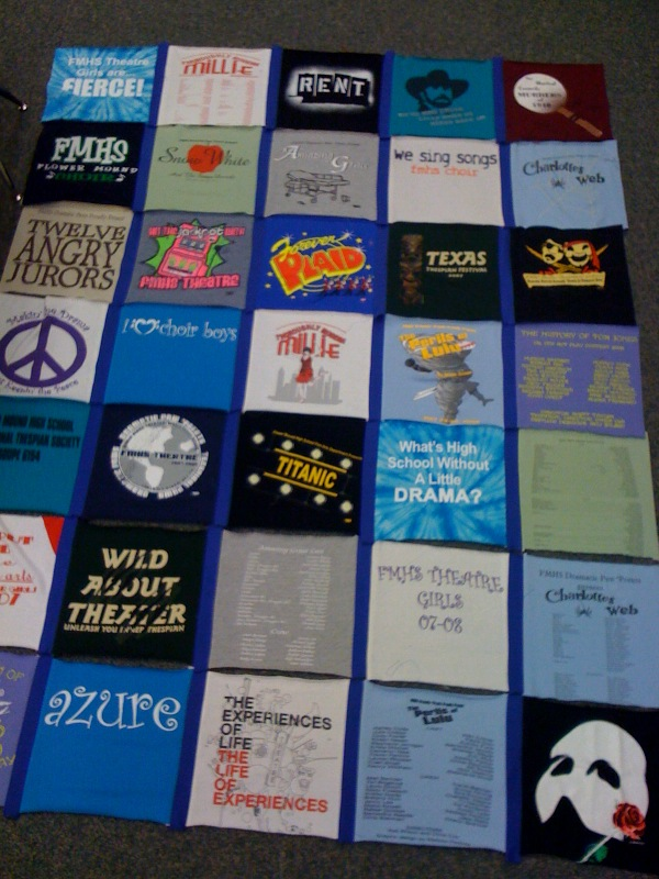 Stagosaurus t shirt quilts for How to make t shirt quilts easy