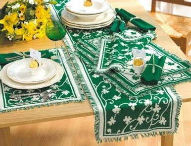 Lucky Shamrock Table Linens