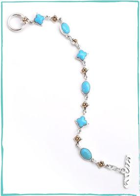 Turquoise Cross Sorrento Link Bracelet