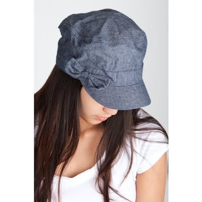 Chambray Bow Cabbie Hat