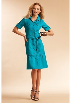 Ruffle-Hem Shirtdress