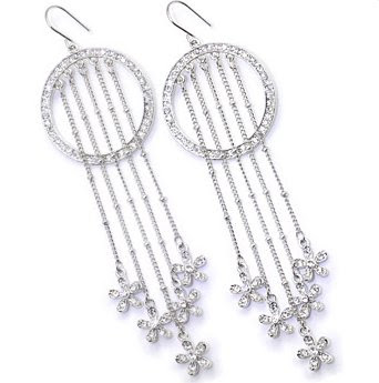 Eternal Spring Sparkle Butterfly Dangle Earrings