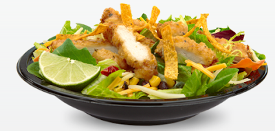 Premium Soutwest Salad with Crispy Chicken