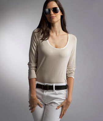 T-shirt in modal stretch