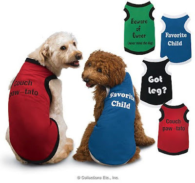 Humorous Tank Tops Dog Clothes