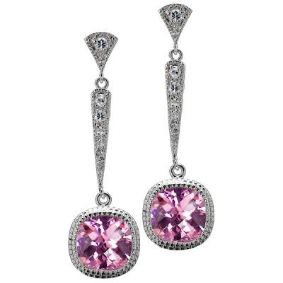 Bruni's Pink CZ Earrings