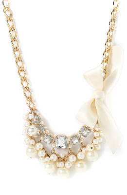 Cara Accessories Crystal Bib Necklace