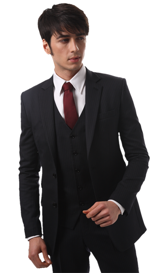 This three-piece suit is most