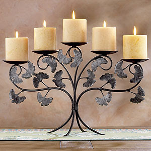 Ginkgo Branch Candleholder