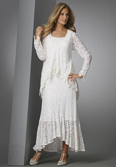 Lace jacket dress