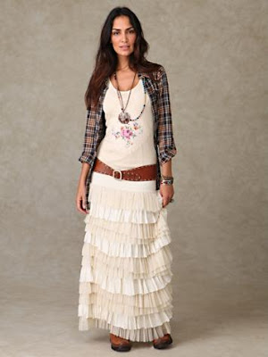 Ruffled Layers Maxi Skirt