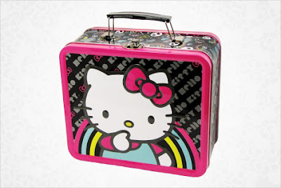 Hello Kitty Metal Lunch Box Rainbow