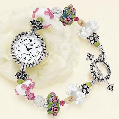 Hand Blown Lampwork Glass Beads Quartz Watch