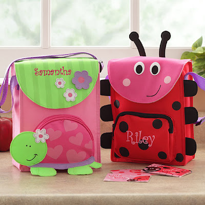 Personalized Ladybug and Sweet Turtle Lunch Bag
