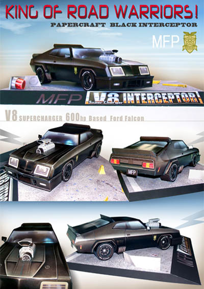 Site Blogspot  Wallpaper  on Super Punch  Papercraft Interceptors From Mad Max