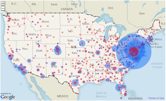 Super Punch Top Secret America - Map of us terrorist attacks