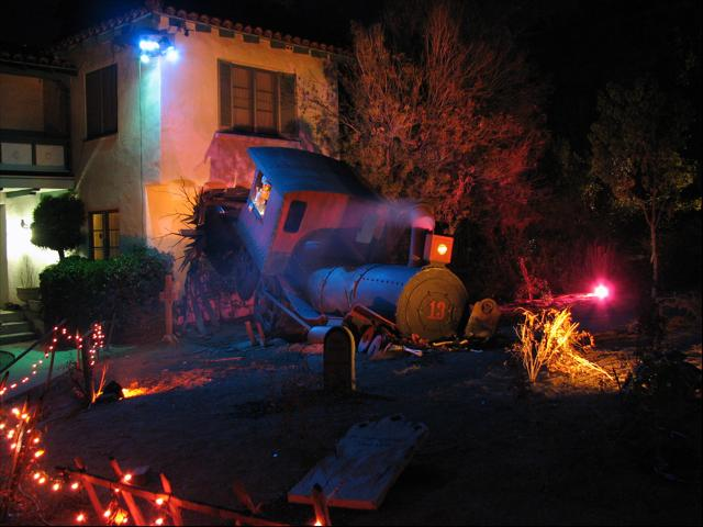 Steamtrain Halloween Display