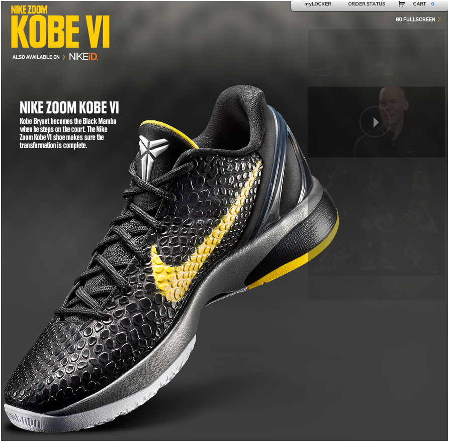 Pics For > Kobe Bryant Shoes Black Mamba