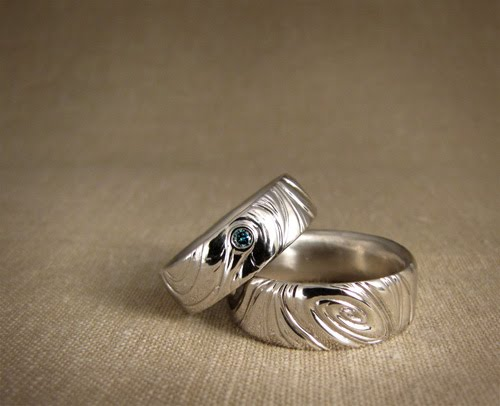 Cheyenne Weil made spacey wedding bands for her friends