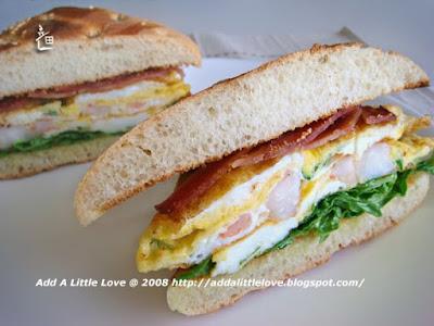 Shrimp Egg Sandwich