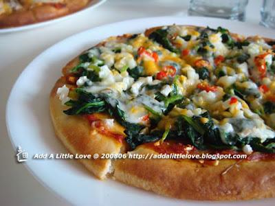 Spinach Chili Pizza