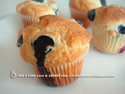 Blueberry Muffin with a Lighter Taste