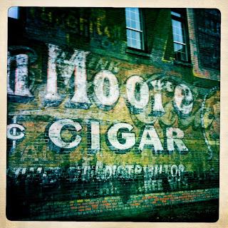 Hot Springs vintage brick wall sign