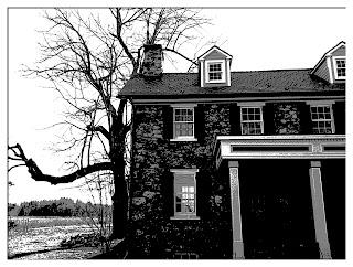 Bucks County stone farmhouse