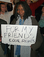 Whoopi Goldberg New York City No on Proposition 8 protest
