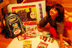 MY DOTER WITH HER THOMAS AND FRIEND- NUR ADLINA