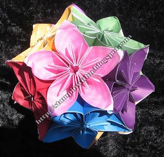 Rainbow Kusudama Origami Ball