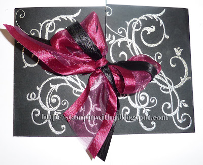 Silver Black And Burgundy - Wedding invites