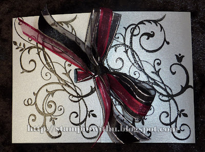 Wedding invites -Silver Black And Burgundy