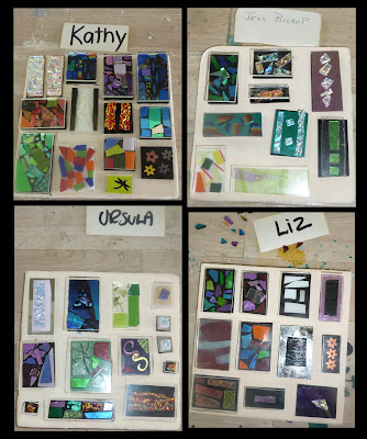 B4 firing our Dichroic Glass Jewellery